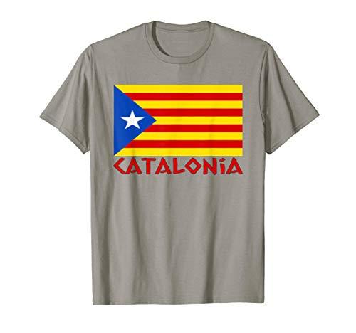 Flag Spain T-shirt - CATALONIA FLAG NATIONAL PATRIOTIC SPAIN T-SHIRT