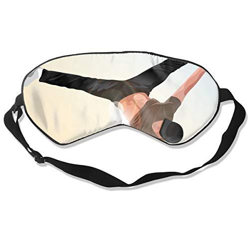 Sleep Mask Hip Hop Dancer Eye Mask Cover With Adjustable Str