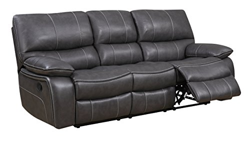 (Global Furniture U0040 - RS Reclining Sofa, Grey/Black)