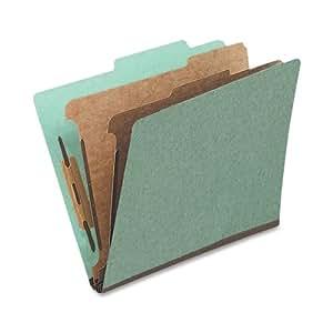 Globe-Weis Classification Folder, Legal Size, 1 Divider, Green (PU44 GRE)