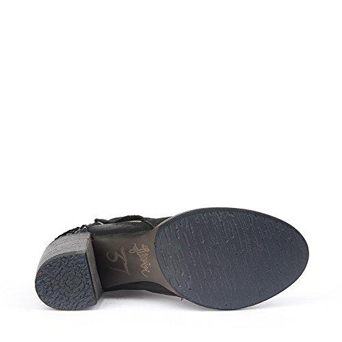 Felmini - Damen Schuhe - Verlieben Carmen 9017 - Klassik Hohe Stiefel - Echte Leder - Schwarz