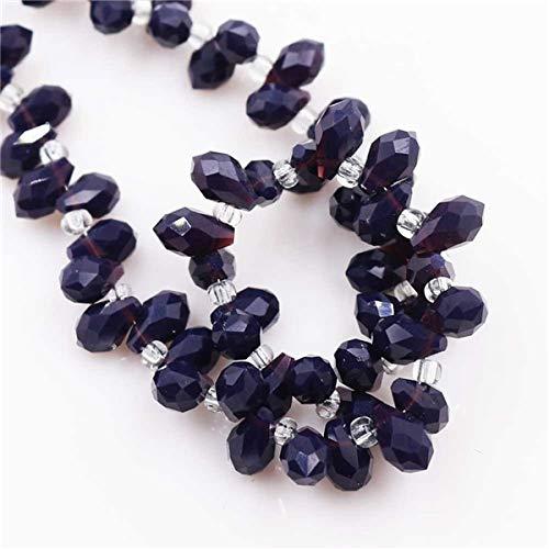 (Calvas 100PCS/LOT Crystal Glass Drop Pendant 58mm Faceted Teardrop Beads for Jewelry Making Necklace Bracelet Fashion Charms DIY - (Color: deep Purple Jade))
