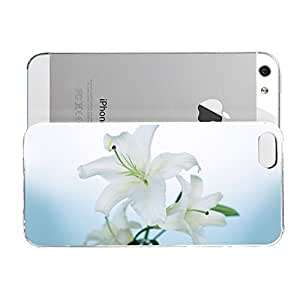 Janmaons iPhone 5/5s Case - Aupd6 Flower White Lily Case for iPhone
