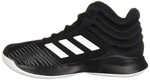 adidas Unisex Pro Spark 2018 Basketball Shoe, Black/White/Grey, 2.5 M US Little Kid by adidas (Image #5)