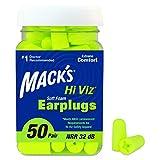 Mack's Hi Viz Soft Foam Earplugs, 50 Pair