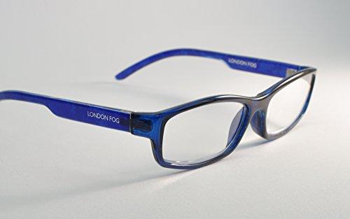 811df60574e London Fog Designer Reading Glasses for Men   Women 2 PK Readers- 2.00  Strength Brown  Blue Crystal). 2.50-Tortoise Blue Crystal