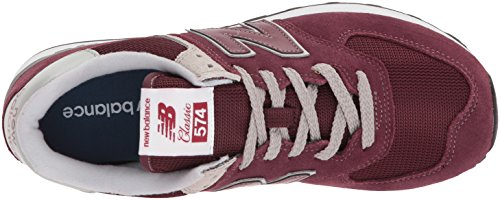 574v2 New Balance Er Red Trainers Burgundy White Women's 8HPRqHw6