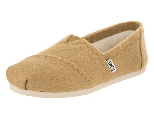 Toms Alpargata Shearling Shoe - Womens Toffee Wool / Faux Shearling, 7.5