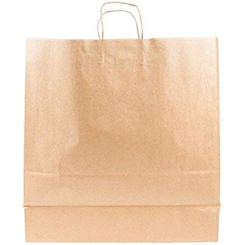 200Pcs Natural Kraft Mechandise Shopping Bag 65# Natural Kraft Paper, Jumbo Shoppers 18 x 7 x 19