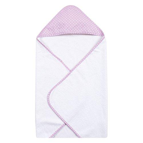 Trend Lab Orchid Bloom Dot Hooded Towel, Purple