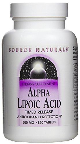 Source Naturals Alpha Lipoic Acid, 300mg, 120 Tablets