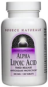 Source Naturals Alpha Lipoic Acid, 300mg, 120 Tablets