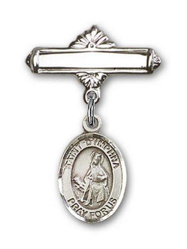 Icecarats Créatrice De Bijoux En Argent Sterling St. Charme Dymphna Broche De Badge 1 X 5/8