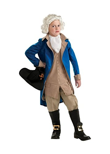 Kids George Washington Costumes Kit (George Washington Boys Costume And Wig (Small))