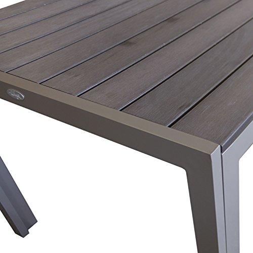 Amazon.de: 7tlg Sitzgarnitur Sitzgruppe Gartenmöbel Set Aluminium ...
