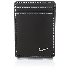 Nike Men's Nike Men's Blocked Front Pocket Wallet, black/wolf grey, One Size
