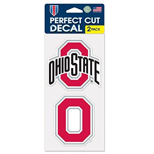 "Wincraft NCAA Ohio State University Perfect Cut Decal (Set of 2), 4"" x 4"""