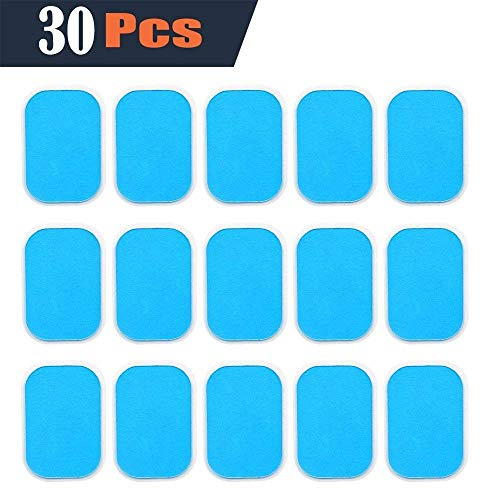 SHENGMI Abs Trainer Replacement Gel Sheet Abdominal Toning Belt Muscle Toner Ab Trainer Accessories 30pcs Gel Sheets For Gel Pad(2pcs/packs, 15packs/box)