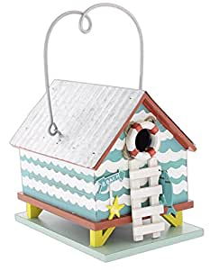 "Midwest CBK 9""& Madera"" casa de playa casa para pájaros de metal galvanizado"