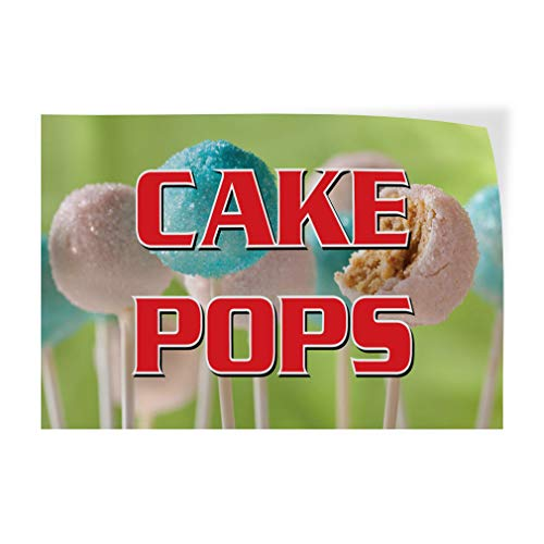 Decal Sticker Cake Pops Restaurant Cafe Bar Restaurant & Food Cake Pops Outdoor Store Sign (Multiple Sizes Available) - 42inx28in, Set of ()