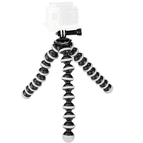 Sabrent Flexible Tripod with Ball Head Bundle or individuale for standard Tripod mount (GoPro mount adapter included)