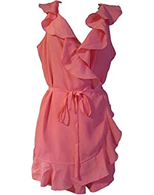 Guess Women's Ruffled Romper
