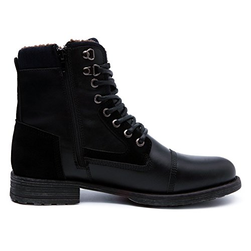 GLOBALWIN Mens Classic Winter Water Resistance Boot (11 M US Men's, 16521black)