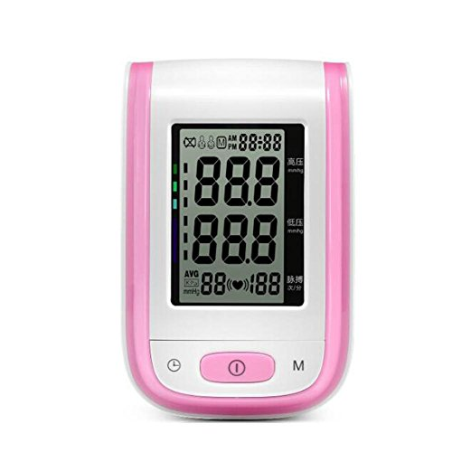 wei-d Basic Upper Arm Blood Pressure Monitor Intelligent Medically Certified Fully Automatic Upper Arm Blood Pressure Monitor , Pink
