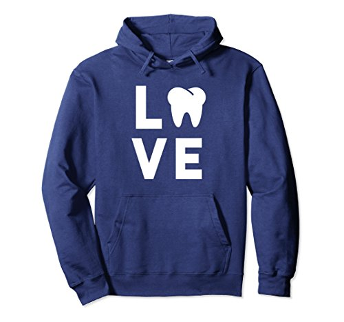 Unisex Dentist Hoodie Funny Dental Humor Gift Idea for Hygienist Large Navy
