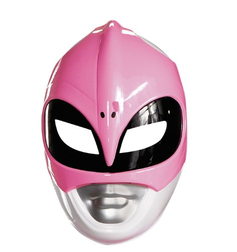 Mighty Morphin Power Ranger Costumes For Adults (Disguise Sabans Mighty Morphin Power Rangers Pink Ranger Vacuform Mask Costume Accessory, Pink/Silver/Black, One Size Adult)