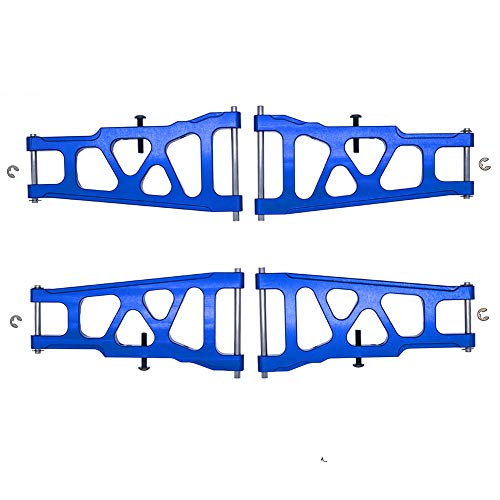 4-Pack Aluminum Front & Rear Suspension A-Arms Replacement of 3655 for Traxxas 1/10 Slash 4x4 4WD RC Car Upgrade Parts Hop Ups
