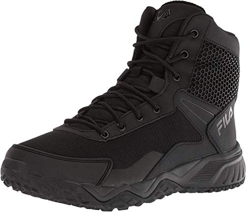 Fila Men's Chastizer Military and Tactical Boot Food Service Shoe, Black, 8.5 D US