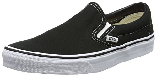 Black Classic Slip On - Vans Adult Slip-On Core Classics, Black (Canvas) 9 Mens, 10.5 Womens