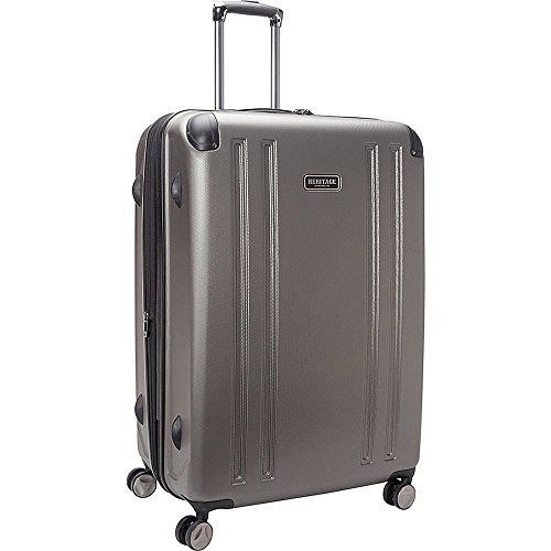 Heritage O'Hare 29 Inch 8-Wheel Upright Luggage, Silver, One (Upright Silver Hardside Luggage)
