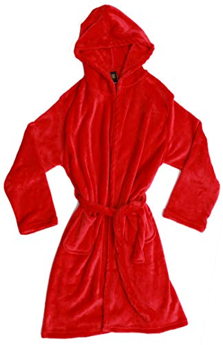 (Just Love Velour Solid Robes for Girls 75604-RED-10-12)