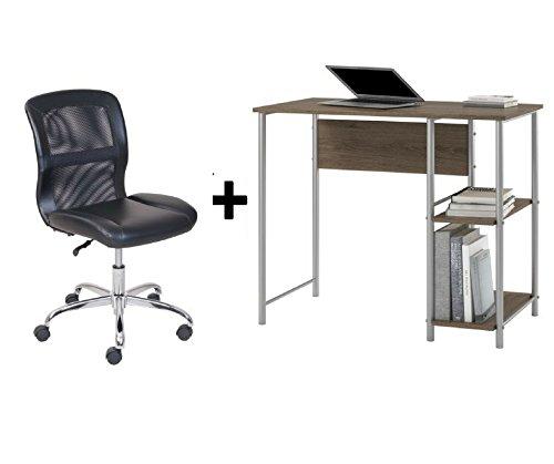 Mainstays Basic Student Rustic Oak Desk Bundle Set And