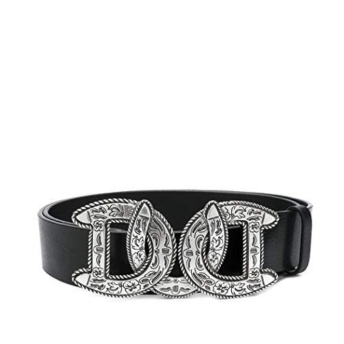 (Dsquared2 Men's Bem012911300001m1074 Black Leather Belt)