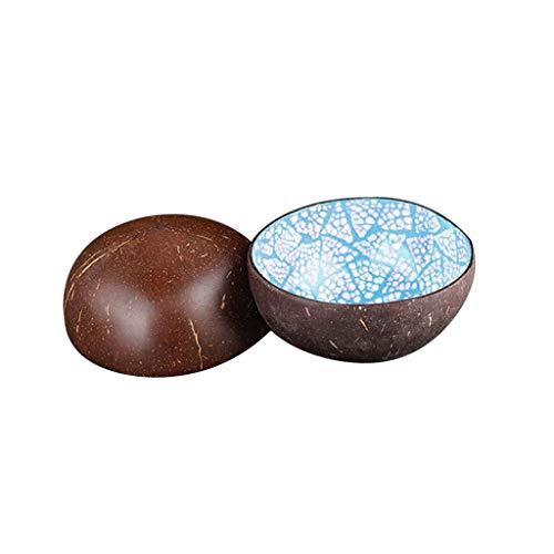 Mikilon Pack of 2 Decorative Coconut Shell Bowl,