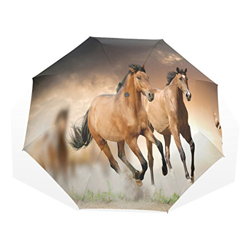 ye-store-pentium-horse-folding-umbrella-glass-fiber-umbrella-skeleton-nano-umbrella-cloth