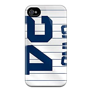 Durable Hard Phone Covers For Iphone 4/4s (aCc1871lsvH) Customized Stylish New York Yankees Skin