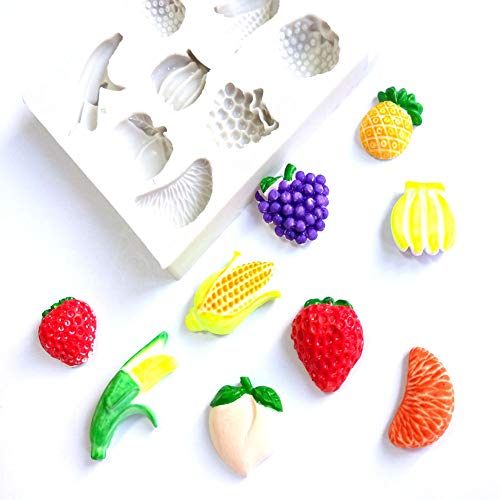Fruits Series Silicone Mold Fondant Cake Candy DIY Sugarcraft Decorating Tool - White for $<!--$1.32-->