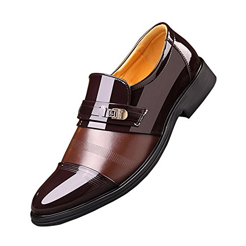 Mocassino Da Uomo In Vera Pelle Plissettata Con Piumino Slip-on Marrone