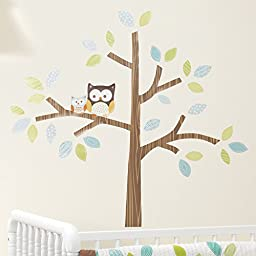 Bedtime Originals Friendly Forest Woodland Wall Appliques, Green/Brown
