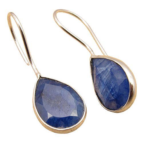 ROYAL SAPPHIRE Gems Simple Fashion Blue Earrings ! 925 Silver Plated Jewelry! September Birthstone (Royal Sapphire)