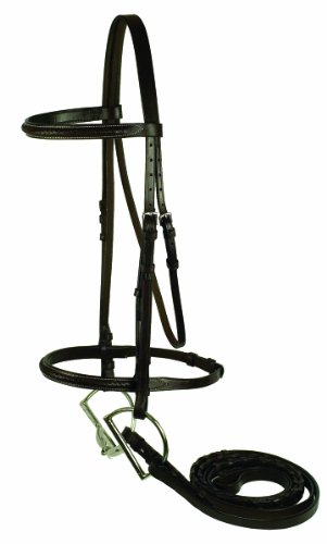 - GATSBY LEATHER COMPANY 108-H HORSE BRAIDED BRIDLE HAVANNA BROWN HORSE