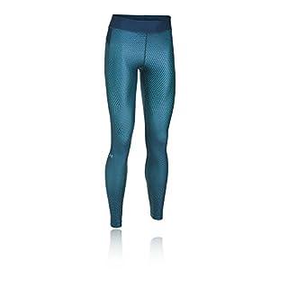 Under Armour Women's HeatGear Armour Printed Legging, Blackout Navy (997)/Metallic Silver, X-Large