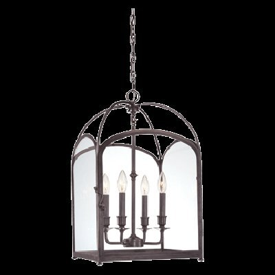 Hudson Valley 6484-AGB, Oxford Large Square Pendant, 4 Light, 240 Total Watts, - Oxford Valley