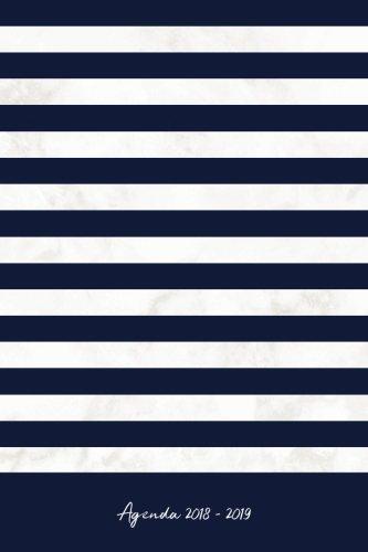 Agenda 2018-2019: Agenda Scolaire de Juillet 2018 à Août 2019, Semainier simple & graphique, motif marinière bleu et marbre blanc Broché – 16 avril 2018 YesOuiPages 1717561276 NON-CLASSIFIABLE