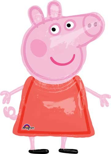 48'' Peppa Pig AirWalker Shape Balloons - Pack of 5 by Single Source Party Supplies