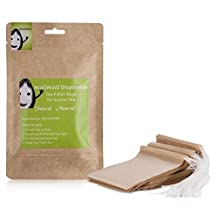 MIAOMIAO unbleached tea filter bags, ?safe and natural material, better leading,100 count?? disposable tea infuser, 1-cup capacity, drawstring empty bag for loose leaf tea (2.4in3.2in) by miaomiao